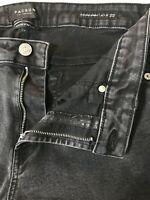 PACSUN Men's 32 x 32 Stacked Skinny Black Active Stretch Denim Jeans
