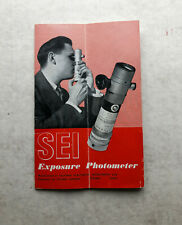 SEI EXPOSURE PHOTOMETER - original manual - Salford Electrical Instruments