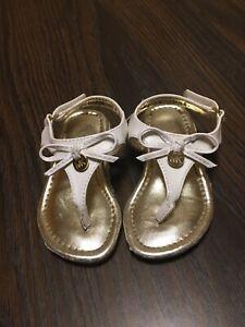 Toddler Girls Michael Kors Logo Sandals