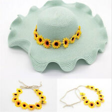 Boho Sunflower Garland Floral Crown Weave Hairband Headband Beach Party Wedding