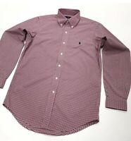 Ralph Lauren Men's Slim Fit Performance Checkered Shirt In Red/White Size XL