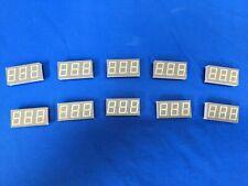 Qty 10 Lumex Quasarbrite 3 Digit 7 Segment 56 Green Led Displays Cc 565nm