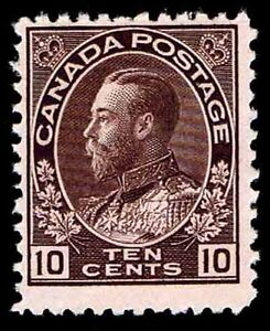 CANADA #116 .10c ADMIRAL OF THE NAVY ISSUE OF 1912 - OGlH - FINE - $275 (E#9669)
