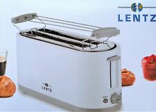 LENTZ 4-Scheiben Toaster weiß mit Brötchenaufsatz