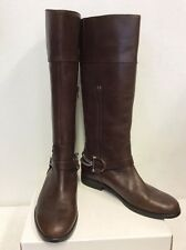 RALPH LAUREN DARK BROWN  LEATHER KNEE LENGTH BOOTS SIZE US 8.5/ UK 6