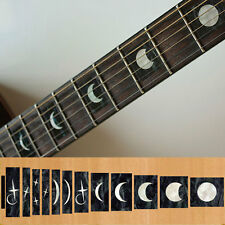 Fret Markers Inlay Sticker Decal Guitar & Bass Neck - Moon Phases Block