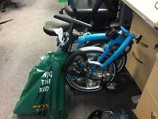 BROMPTON P6RU Blue 6 SPEED RACK FOLDING BIKE BICYCLE