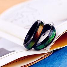 Charming Titanium Mood Rings Temperature Emotion Feeling Couple Love's Gift