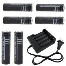 6X 18650 3.7V Li-ion Rechargeable Battery AND Battery Charger
