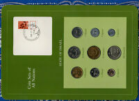 Coin Sets of All Nations Israel  w/card 1980-1984 UNC 1 Sheqal 1983 1/2 1980