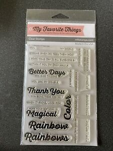 My Favorite Things - Clear Stamps 4 inch X6 inch - Rainbows of Hapiness