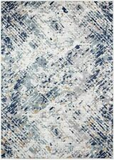 BEST BUY AREA RUGS LIVING ROOM BEDROOM ABSTRACT CARPET BLUE AREA RUG LARGE NEW