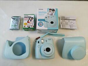 Fujifilm Instax Mini 9 Kamera Sofortbildkamera Vintage Retro blau