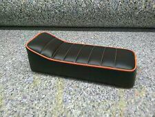 Black/w orange trim mini bike seat 14 x 8