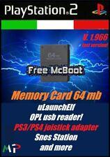 Free McBoot Memory Card PS2 64 Mb playstation 2 FMCB 1.966 freemcboot ITA