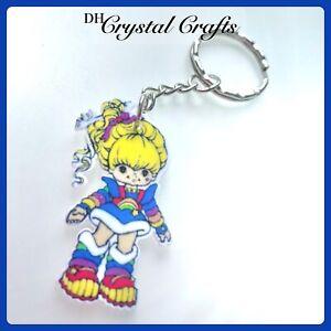 Rainbow Brite bright 80s Toy Mattel Theme Handmade Keyring Bag Charm Xmas #56
