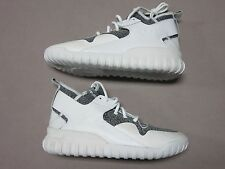 ADIDAS ORIGINALS RARE TUBULAR X WHITE & GRAY HIGH TOP SNEAKERS SHOES SIZE 11 NEW