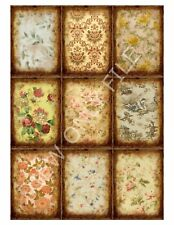 9 Grungy Floral Rustic Antiqued Vintage Hang Tags (44)