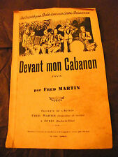 Partition Devant mon cabanon fred Martin Music Sheet