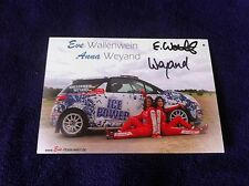 CP POSTCARD CARTOLINA CITROEN DS3 EVE WALLENWEIN RALLY WRC RALLYE 2014