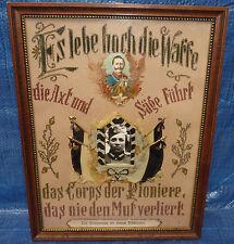 Kaiser Wilhelm II. Corps der Pioniere Preußen Seidenstickerei Foto Soldat 2.WK