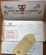 South Bend IN Bait Company Old 1940 Letterhead Indiana / Fishing Ephemera
