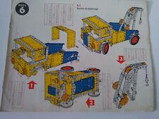 Vintage Meccano manuel d'instructions boite construction N°6 parfait etat.