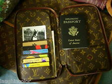 RARE Vintage LOUIS VUITTON Zip Wallet Notebook Cover Agenda Portfolio Organizer