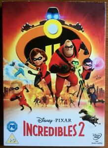 THE INCREDIBLES 2 DVD directed by BRAD BIRD 2018 PIXAR WALT DISNEY PAL REGION 2