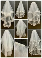 White Bridal Lace Veil on Comb Bride to Be Hen Night Bachelorette Wedding Party