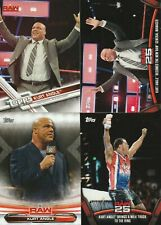 2017 2018 2019 Topps WWE Kurt Angle card lot
