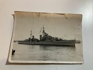 ORIGINAL PHOTO OF THE ROYAL NAVY LIGHT CRUISER HMS DIADEM.