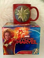Captain Marvel 3D like Sculpted Ceramic 20 oz. Mug - BNIB