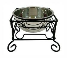 """YML 10-Inch Black Wrought Iron Stand Large (10"""" H x 10.5"""" W x D),"""