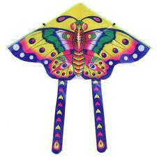 Domybest 90x50cm Heller Stoff Bunt Schmetterling Drachen Spielzeug Faltbare