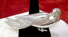 925 STERLING SILVER GENUINE CORO NORSELAND SITTING BIRD DOVE PIN BROOCH 32.6 GR