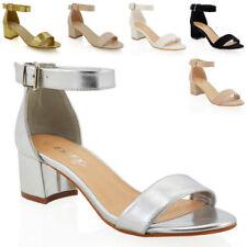 Essex Glam Synthetic Heels Block