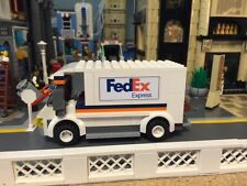 Custom Lego Fed Ex delivery truck for Lego City / modular train...Detailed!