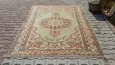 vintage rug,6'4x9'2,Turkish Rug,rugs, Rug,Bohemian Rug,turkish kilim,oushak rug