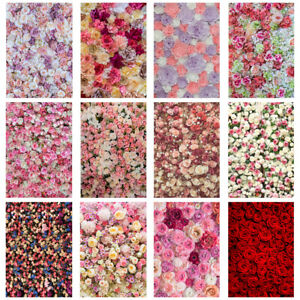 Pink Red Rose Flower Wall Background Cloth Photographic Backdrop Party Decor