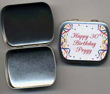 60th 70th 75th Birthday Party Favors Mint Tins 3 design