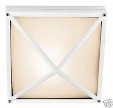 White Exterior/Interior Square Ceiling Light  2 Pack
