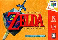 ✅ Legend of Zelda Ocarina of Time Gold Nintendo 64 N64 Video Game Cart Rare RPG
