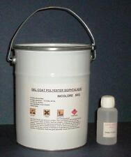 5kg. de GEL COAT POLYESTER ISO. MARINE INCOLORE + 125g de catalyseur & 1 pipette