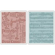 Sizzix Texture Fades Embossing Folders By Tim Holtz - 453158