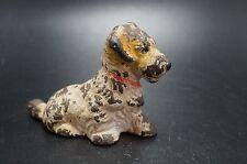 Vintage HUBLEY Cast Iron SEALYHAM TERRIER Puppy Dog Card Holder