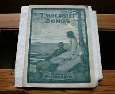 Old Vintage Sheet Music or Song Book Twilight Songs for the Home Baldwin Piano