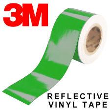 3M Scotchlite 580 Reflective Tape - Full Colour Range Black White Decal Strip UK Red 1m 15mm