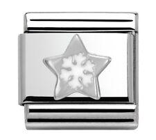 Nomination ciondolo Silvershine STAR fiocco di neve RRP £ 18