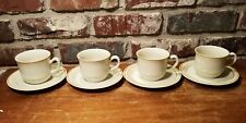 Sweet Flowers Cups & Saucers, 4 sets, Stoneware, Cup & Saucer sets, Excellent